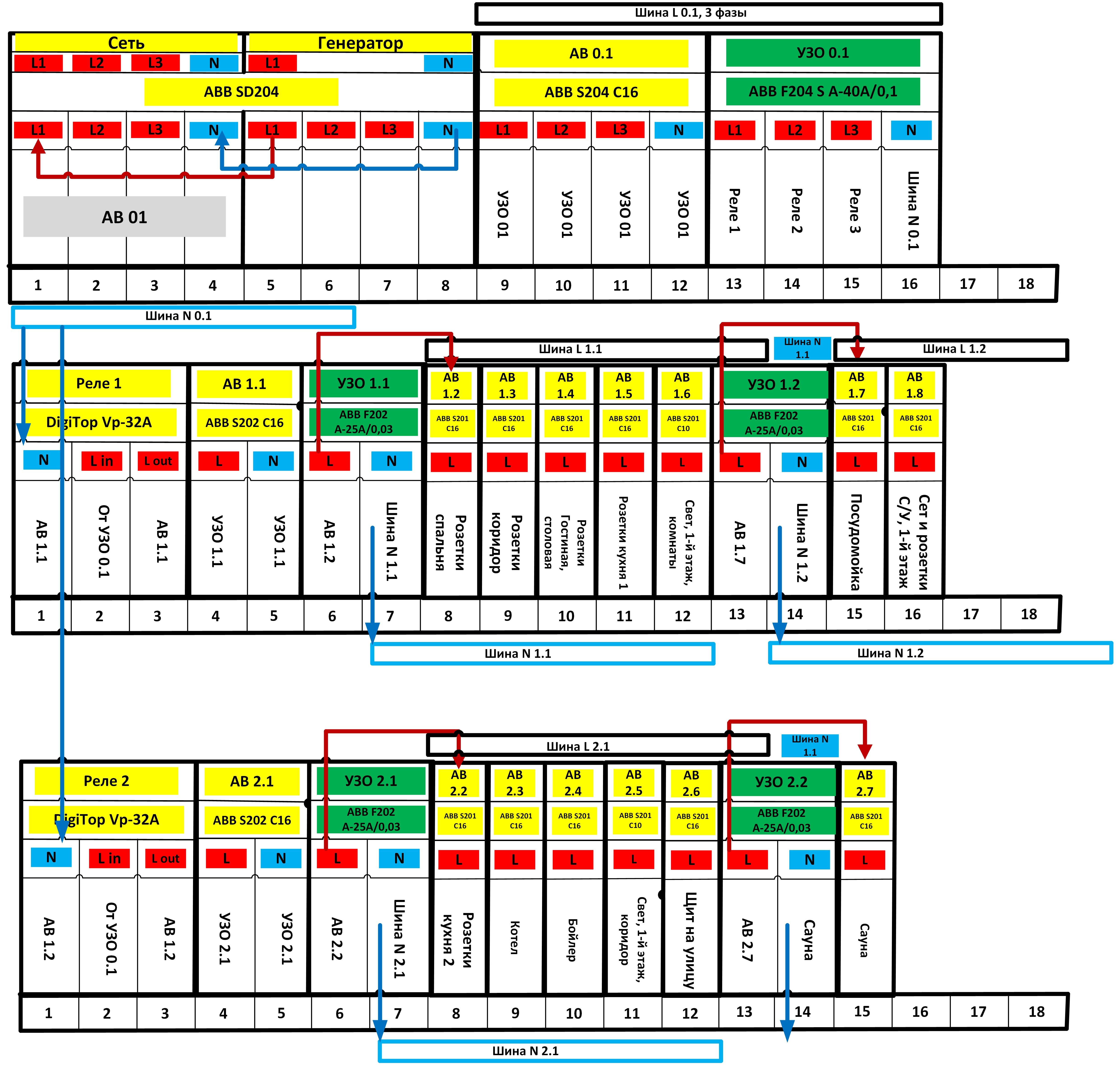 f200 ac схема подключения