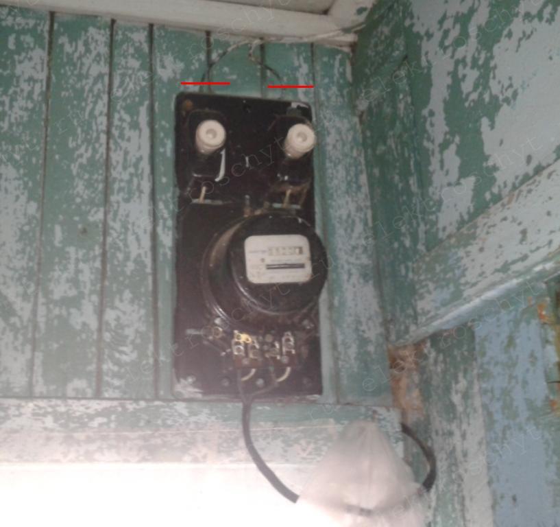 деревенский электросчетчик
