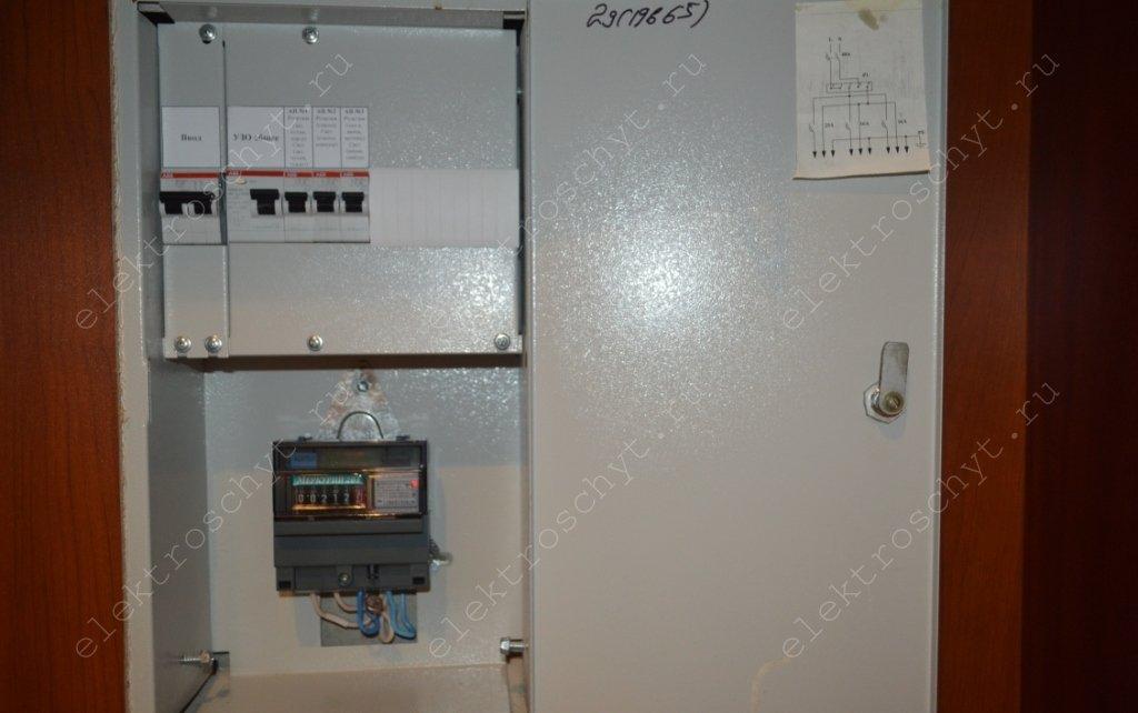 квартирный щиток автоматы abb