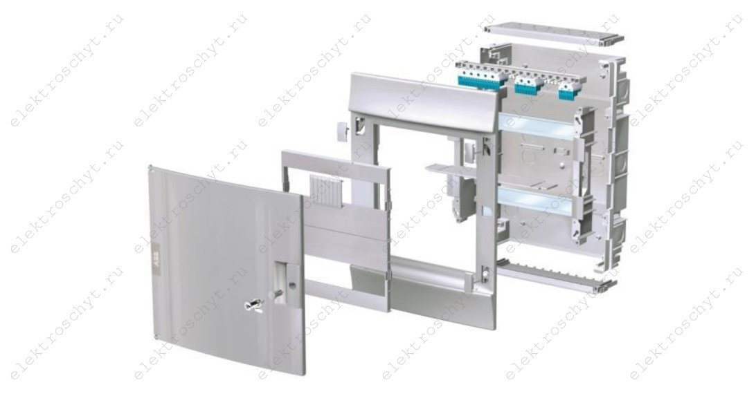 сборка электрощита съемная панель с дин-рейками