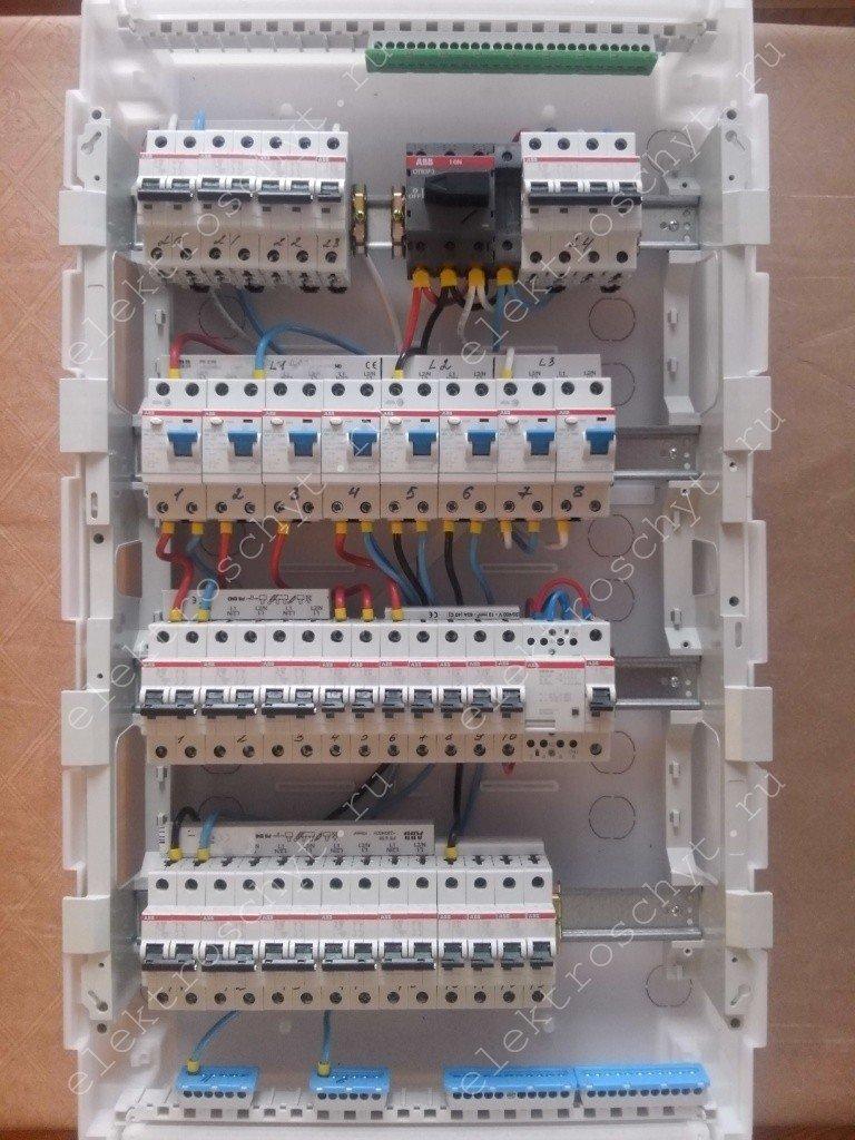 схема подключения автомат-трехфазный счетчик-автомат