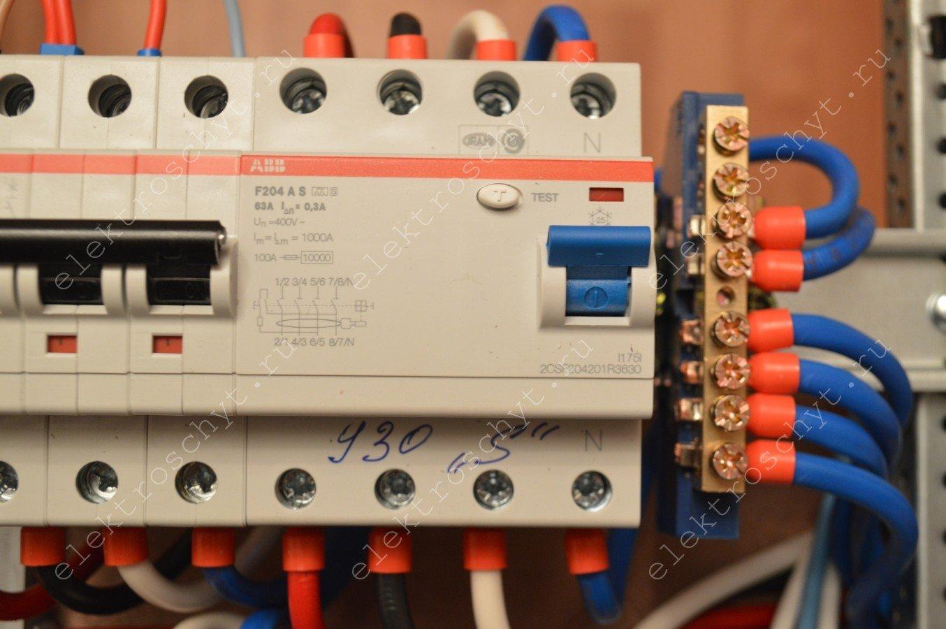 Схема электрического щитка в visio