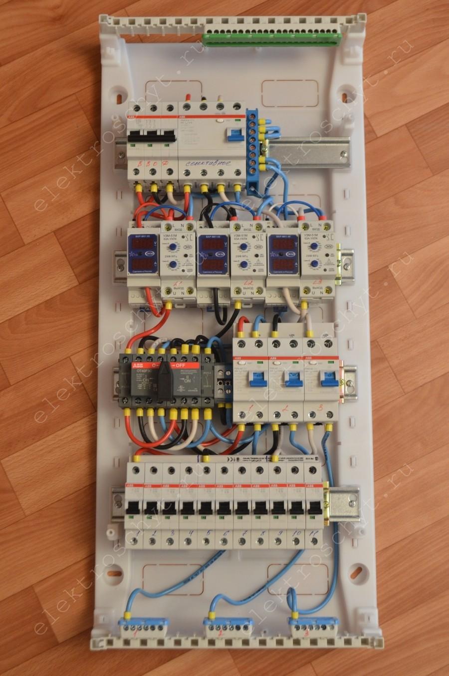 Подключение электрощитка своими руками 92