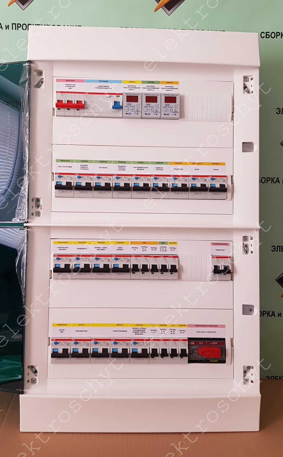 щит дифавтоматы